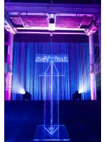 Audio Visual Events - Clear Perspex Lectern Hire